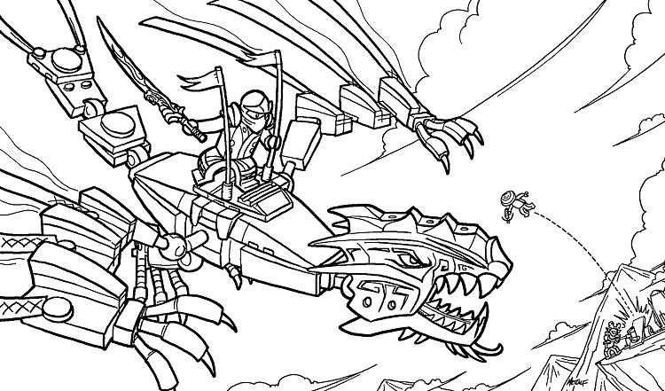 Ninjago Earth Dragon Coloring Pages