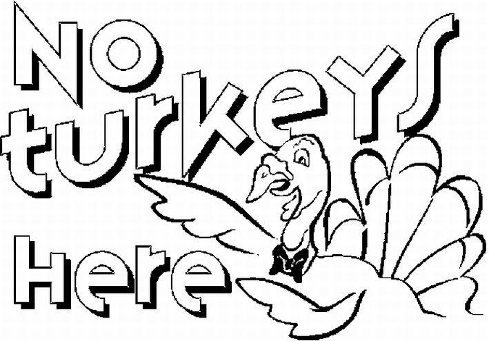 No Turkey Here Thanksgiving Coloring Pages Free Printable