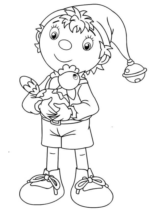 Noddy And His Chicken Coloring Pages