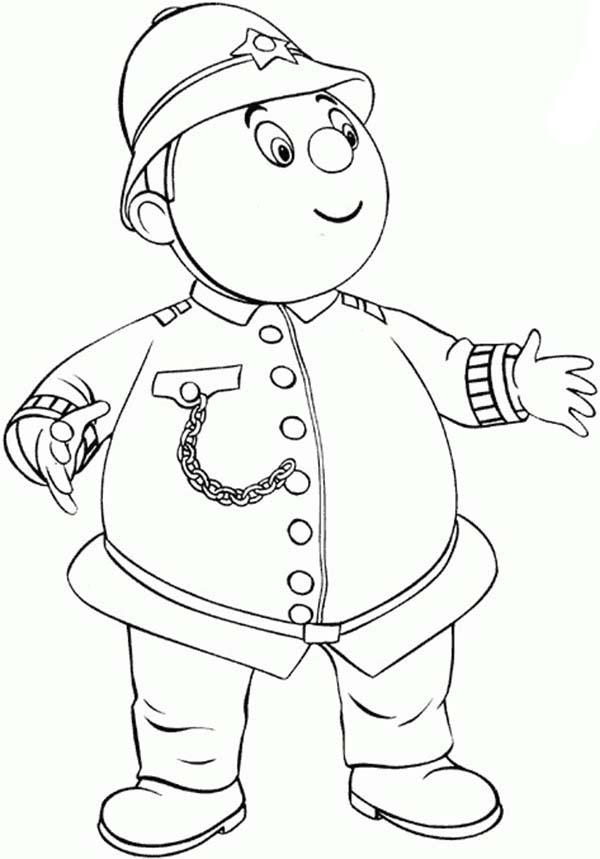 Noddy Friend Mr Plod Coloring Pages