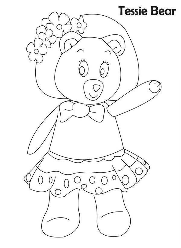 Noddy Friend Tessie Bear Coloring Pages