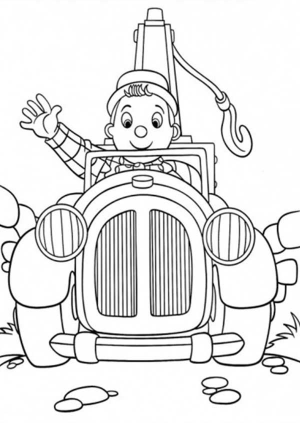 Noddy Greeting Us Coloring Pages