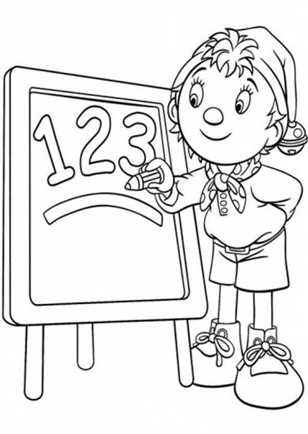 Noddy Learning Math Coloring Pages