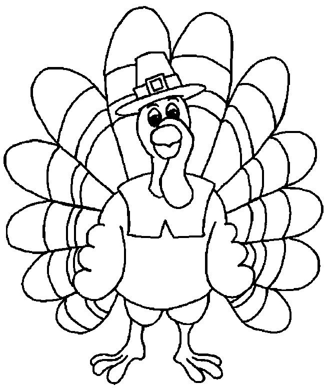 November Coloring Pages Turkey