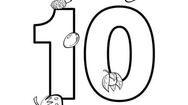 Number 10 Coloring Page