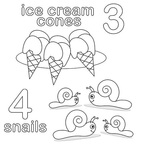 Number 3 Coloring Page For Kids