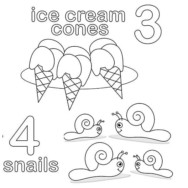 Number 4 Coloring Page For Kids
