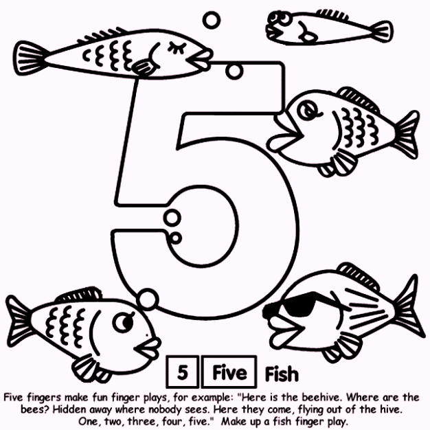 Number Coloring Pages For 5
