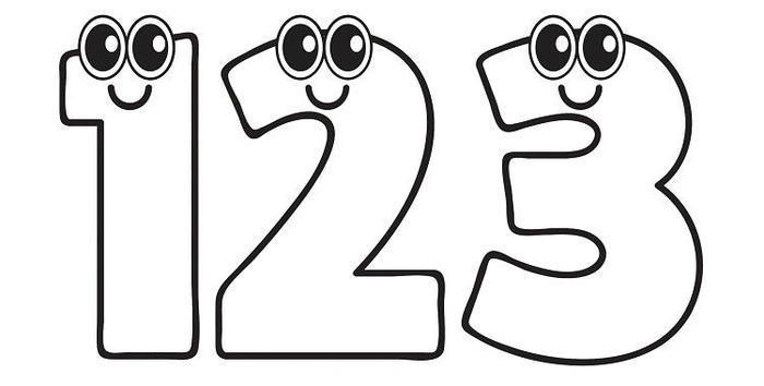 Numbers clipart coloring pages