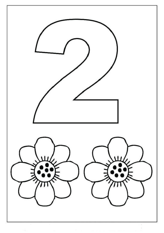 Numbers Coloring Pages For Kindergarten
