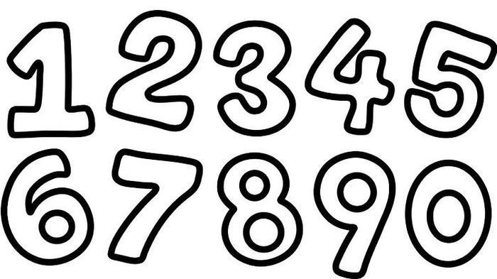 Numbers Coloring Pages Free Printable
