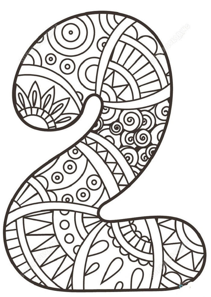 Numbers Mandala Coloring Pages