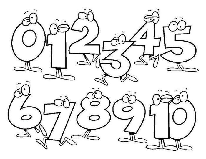 Numbers Printable Coloring Pages