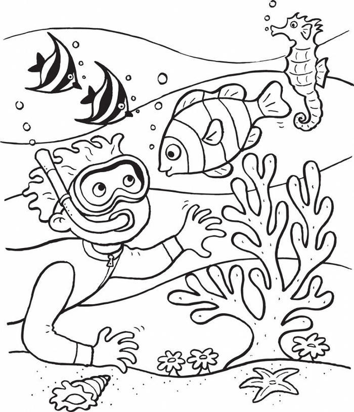 Ocean Coloring Pages For Kindergartens