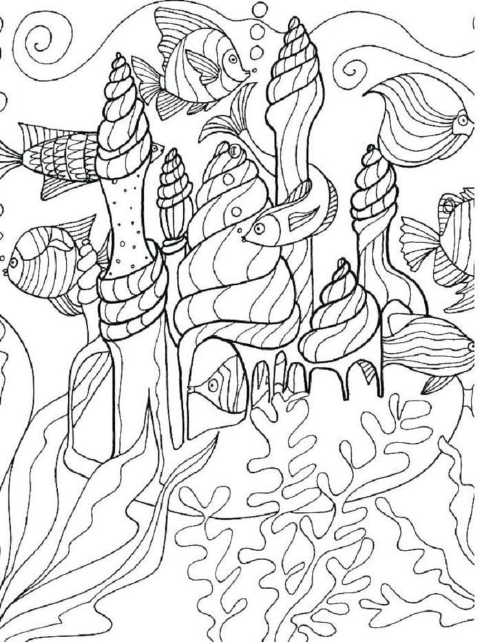 Ocean Floor Under The Sea Coloring Pages