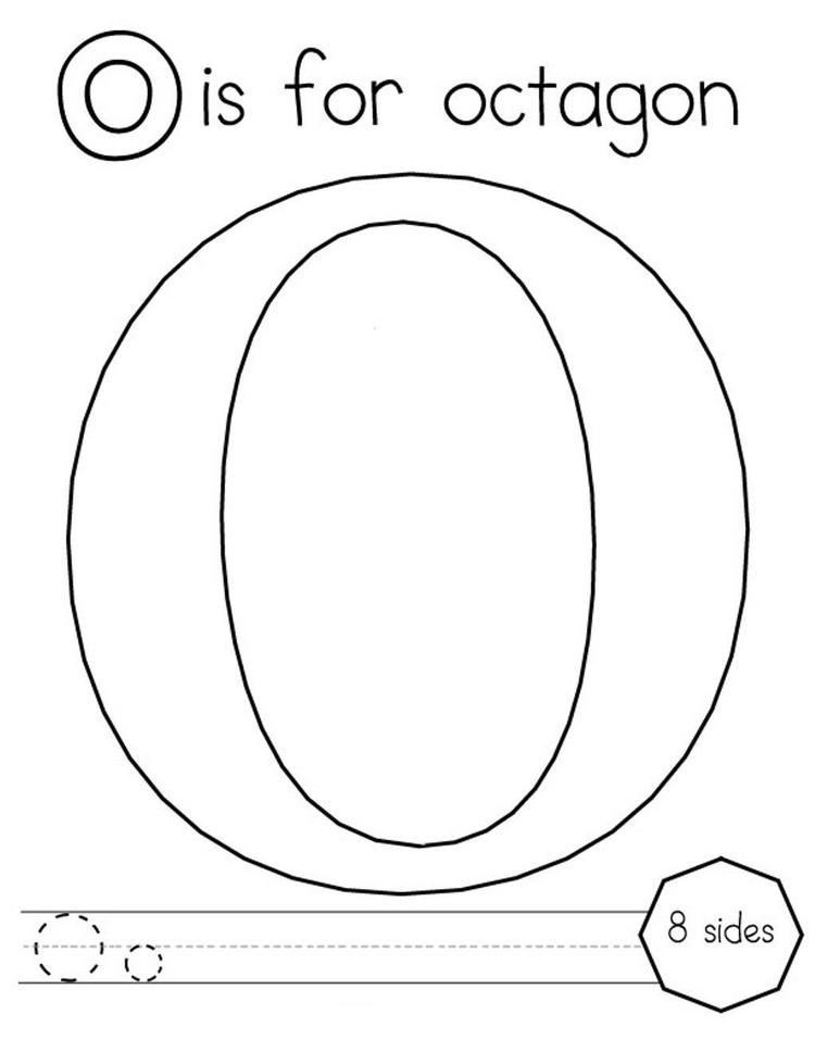 Octagon Alphabet Coloring Pages