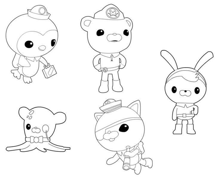 Octonauts Coloring Pages All Characters