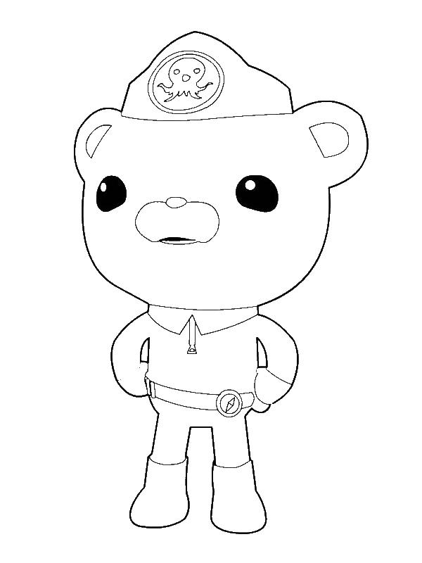 Octonauts Coloring Pages Captain Barnacles Bear