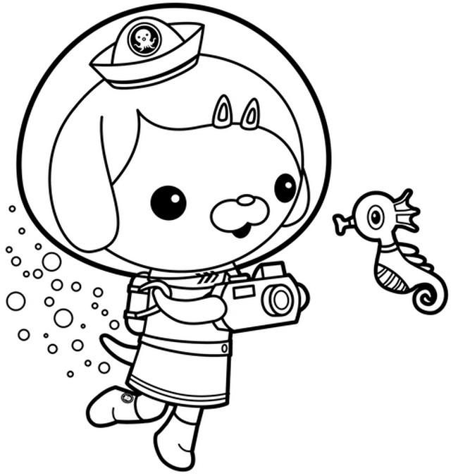 Octonauts Coloring Pages Dashi