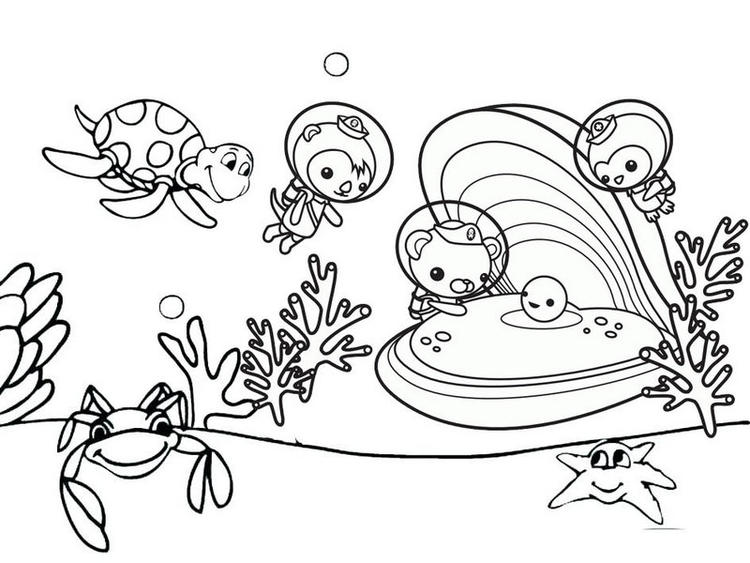 Octonauts Observing Oyster Coloring Pages