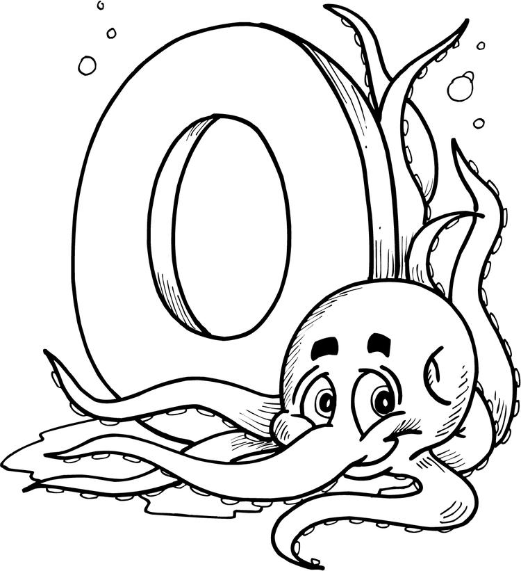 Octopus Alphabet Coloring Pages