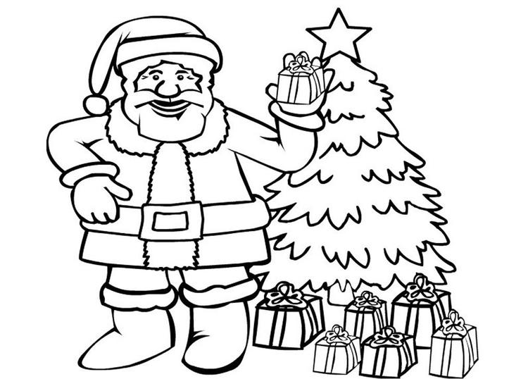 Of Santa Claus Coloring Page Free