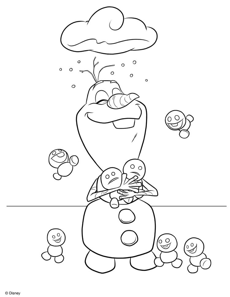 Olaf Coloring Pages With Snowgies - Coloring Ideas