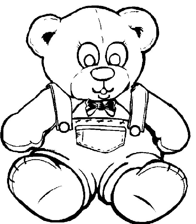 Old Bear Coloring Pages