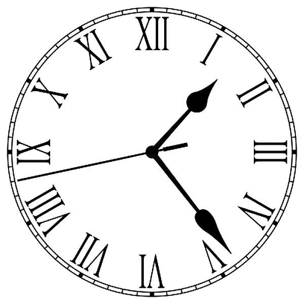 Old Fashioned Analog Clock Coloring Pages