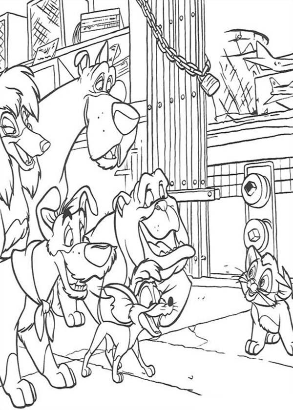 Oliver Tell His Plan In Oliver And Company Coloring Pages