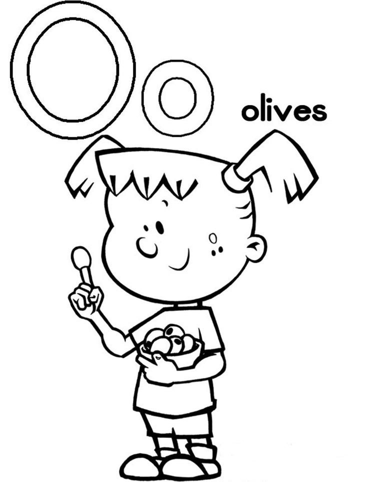 Olives Alphabet Coloring Pages