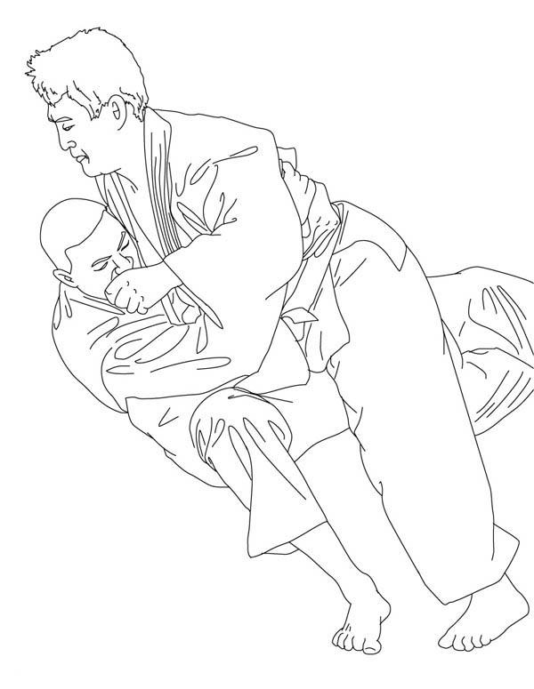Olympic Competition Judo Coloring Pages
