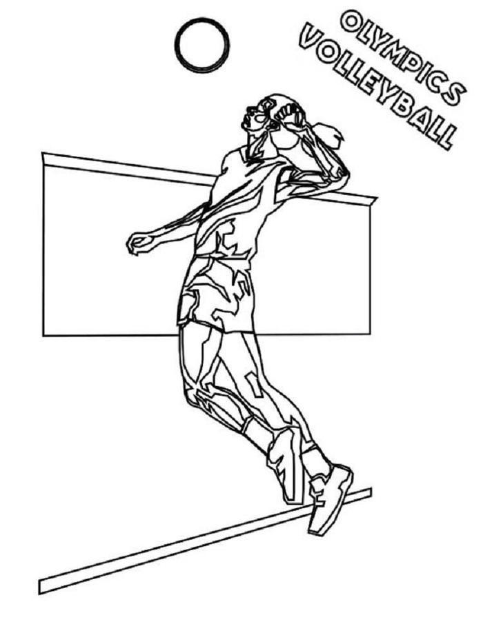 Olympics Volleyball Coloring Pages