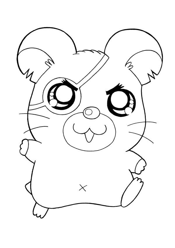 One Eyed Pirate Hamtaro Coloring Pages