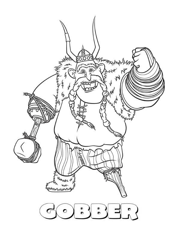 One Legged Gobber From How To Train Your Dragon Coloring Pages