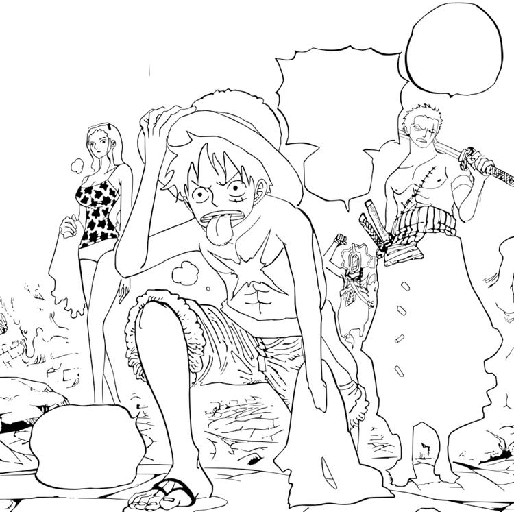One Piece Coloring Books Printable