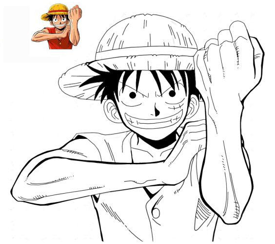 One Piece Coloring Boos For Manga