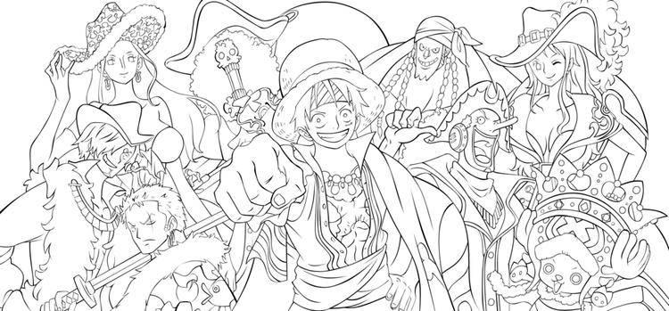 One Piece Movie Coloring Pages 01