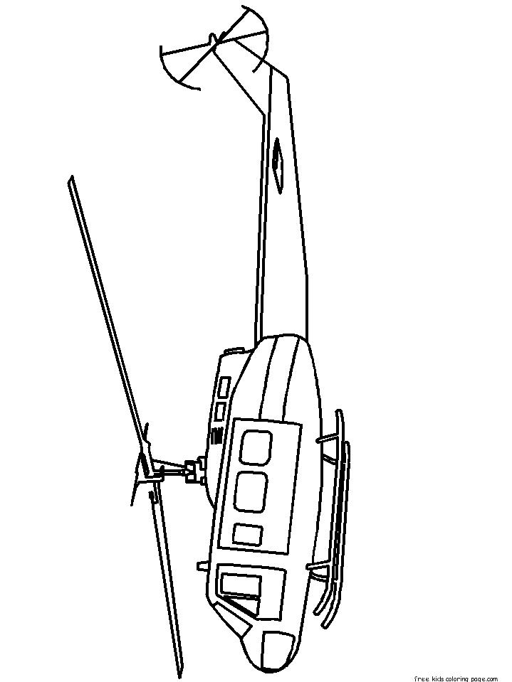 Online Coloring Pages Military Helicopters