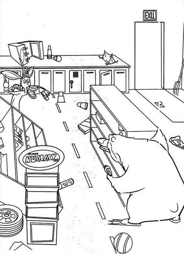 Open Season Messy Kitchen In Open Season Coloring Pages