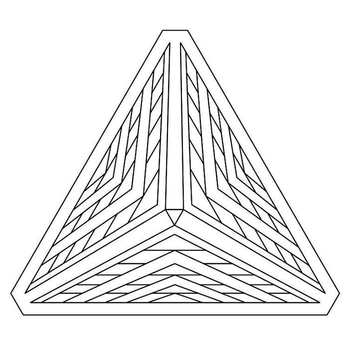 Optical Illusion Geometric Coloring Pages
