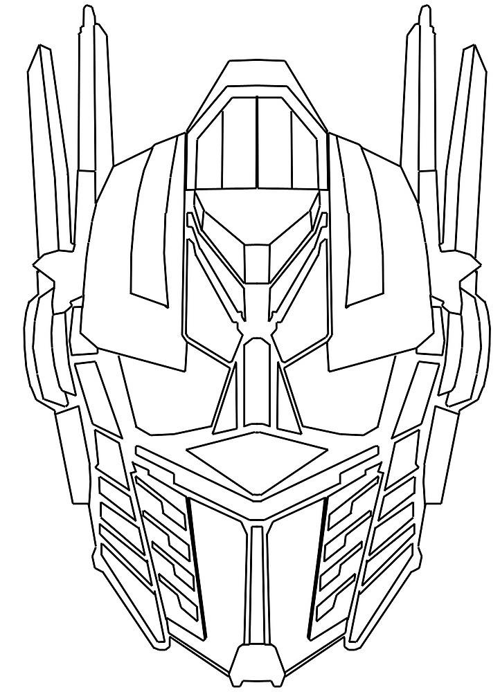 Optimus Prime Coloring Pages Face
