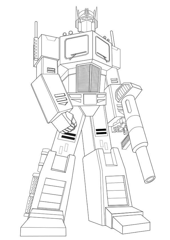 Optimus Prime Coloring Pages For Kids