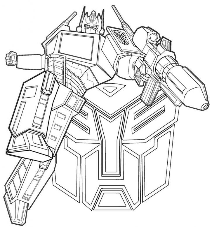 Optimus Prime Coloring Pages Regarding Really Encourage In