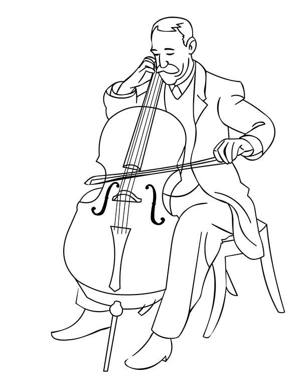Orchestra Musical Instruments Symphony Coloring Pages
