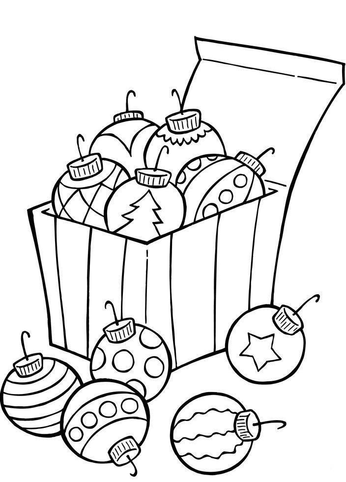 Ornaments For Christmas Tree Coloring Page