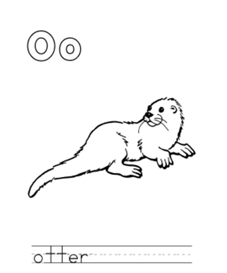 Otter Alphabet Coloring Pages