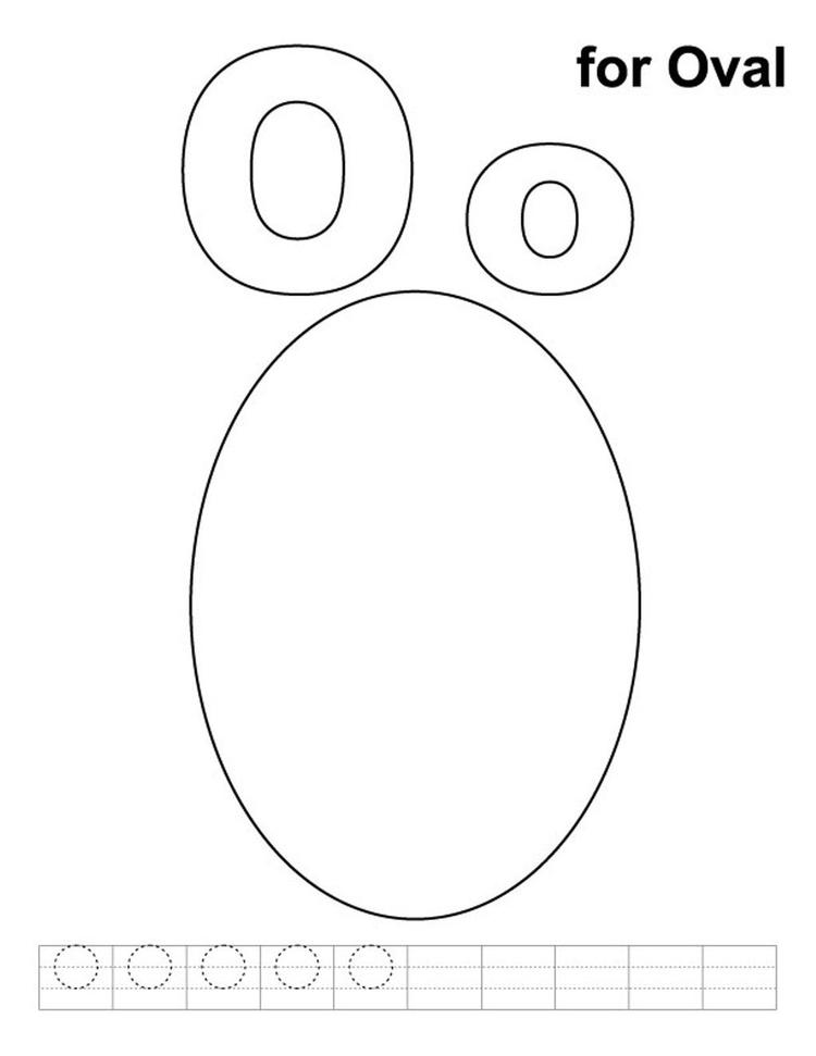 Oval Alphabet Coloring Pages