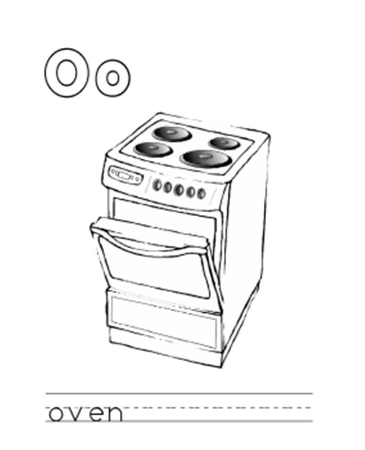 Oven Alphabet Coloring Pages