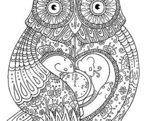 Owl adult coloring pages mandala printable 1